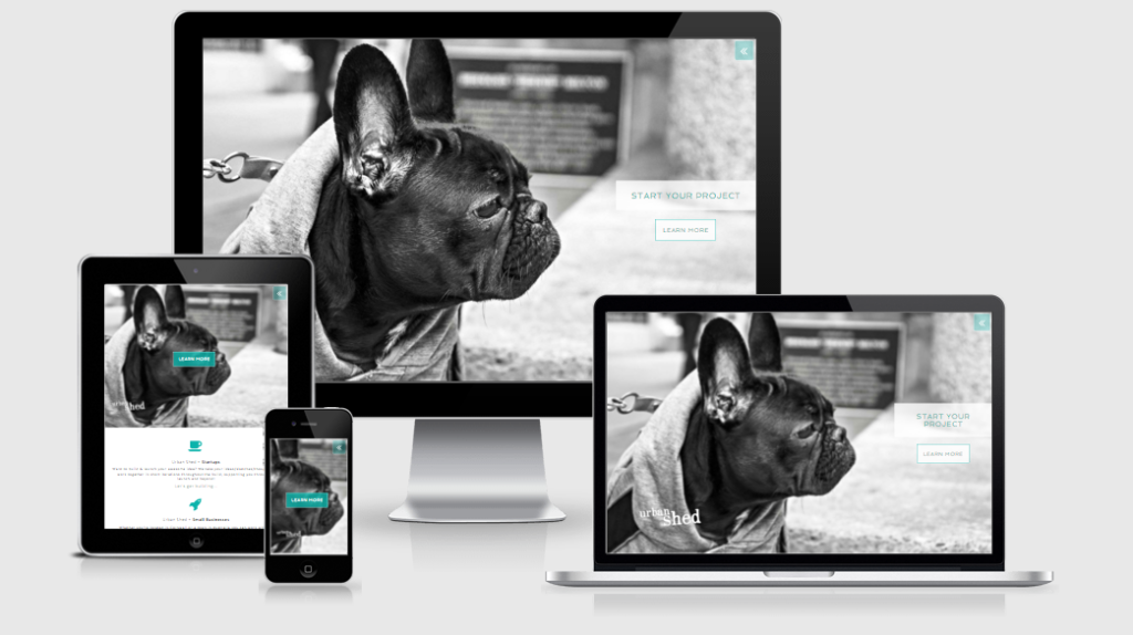 Urban Shed Responsive Web Design in Cornwall