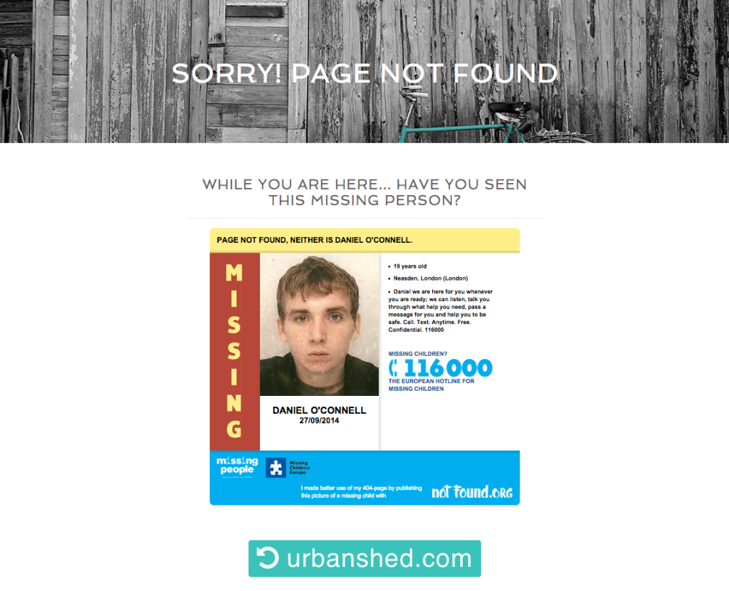 Make Better Use of 404 Error Page